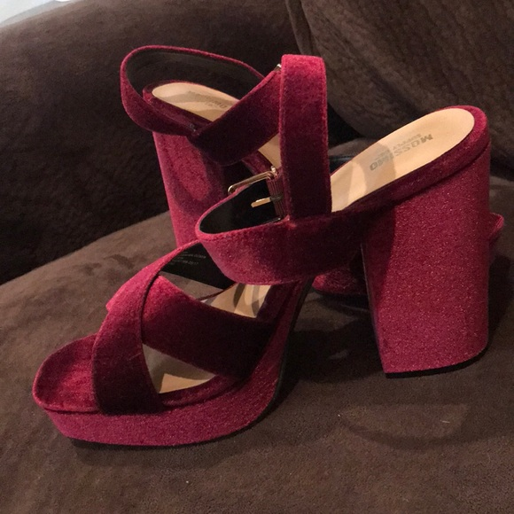 Mossimo Supply Co. Shoes - Red velvet mossimo heels.
